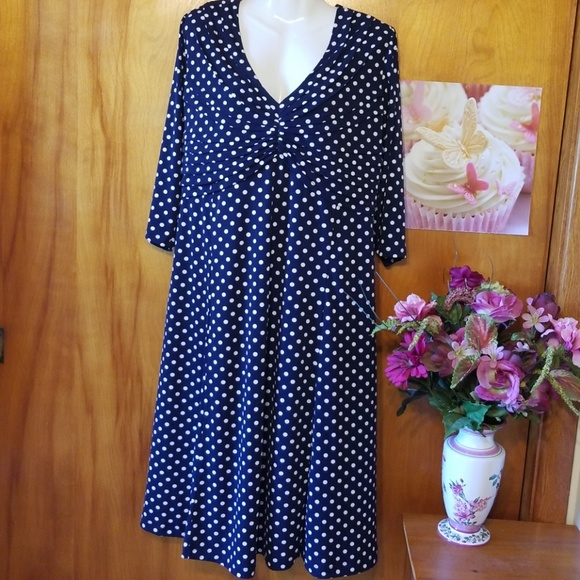 22e7d0f4e8a Cato Dresses   Skirts - Cato Navy   White Polka Dot Dress